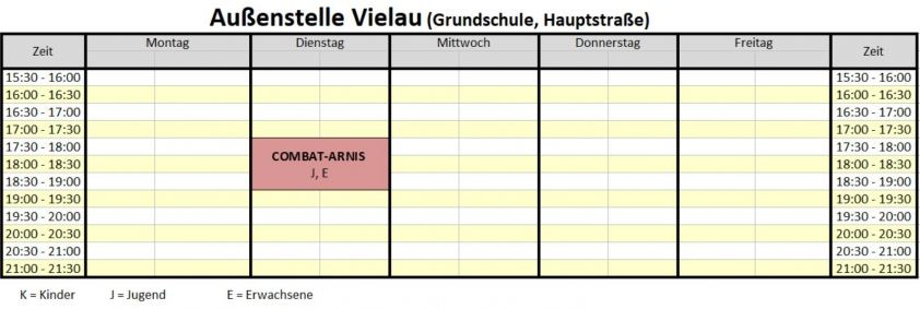 Trainingsplan Vielau